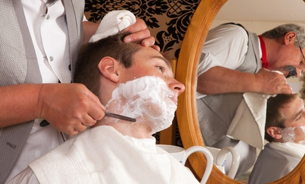 One or Two Men's Haircuts with Hot-Towel Shave and Facial at MENS SPA (Up to 62% Off)