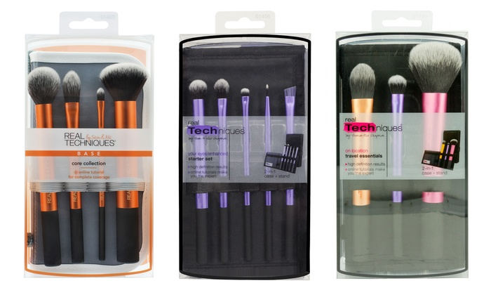 Connu Pinceaux de maquillage Real Techniques | Groupon Shopping SU18