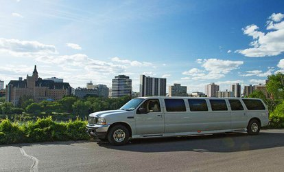 image for One or Two Hours in a Stretch SUV Limo or One-Way or Roundtrip Service to Saskatoon Airport (Up to 44% Off)