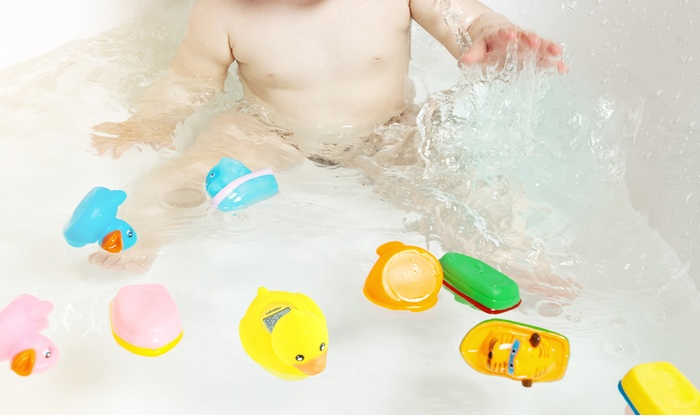 toy duck baby bath thermometer groupon goods. Black Bedroom Furniture Sets. Home Design Ideas