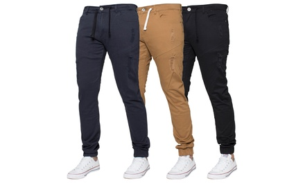 Kruze Jeans Ripped Cuffed Chinos