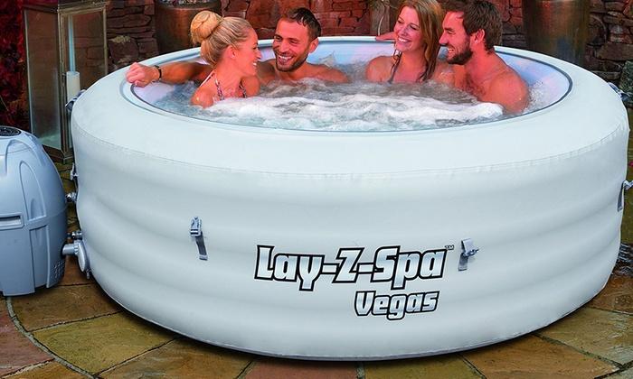 lay z spa vegas hot tub spa groupon. Black Bedroom Furniture Sets. Home Design Ideas