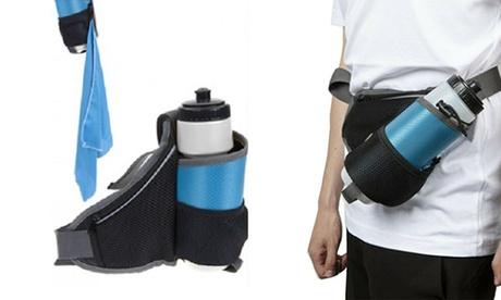 Bolsa de cintura con toalla y botella de 650 ml