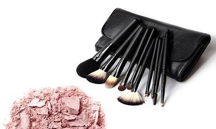 10Piece MakeUp Brush Set for £7.99