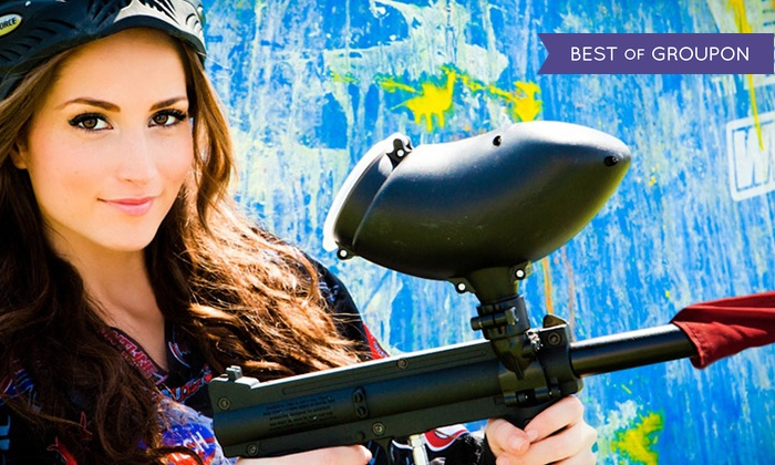 Paintball International - Multiple Locations: All-Day Paintball Package with Equipment Rental for 4, 6, or 12 at Paintball International (Up to 90% Off)