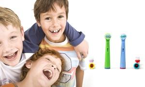 Têtes brosse à dents enfants
