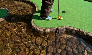 Aces Sporting Club: Three Games of Mini Golf for One Person ($9) or Family of Four ($22) at Aces Sporting Club (Up to $45 Value)