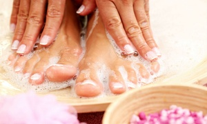 RE Salons Spas: Classic or Gelish Manicure and Pedicure with Optional Foot Spa Treatment at RE Salons Spas (Up to 62% off)