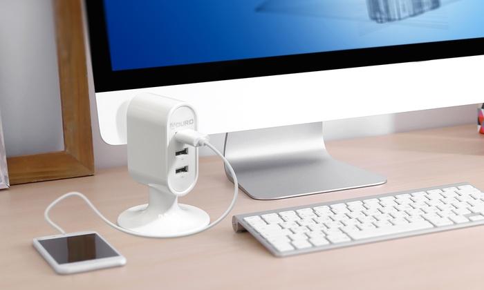 Aduro PowerUp Mini 3 Port USB Charging Station: Aduro PowerUp Mini 3 Port USB Charging Station