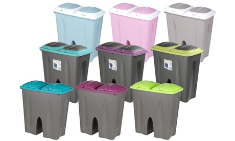 50L Double Recycling Waste Bins in Choice of Colour