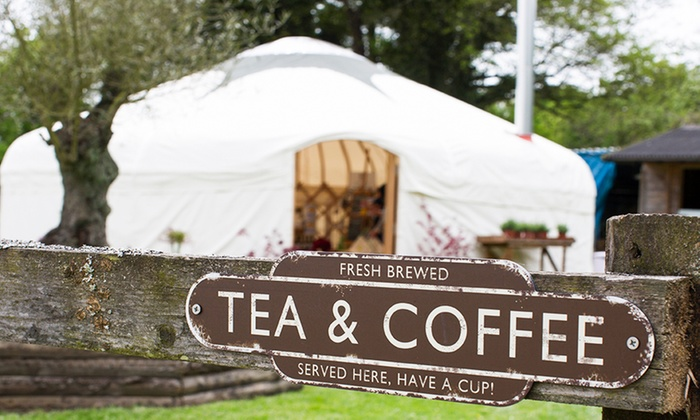 Riverside Yurt Cafe - Bransbury: Garden Afternoon Tea for Two at Riverside and Yurt