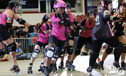 Tampa Roller Derby Doubleheader Bout for Two on March 11 or April 1
