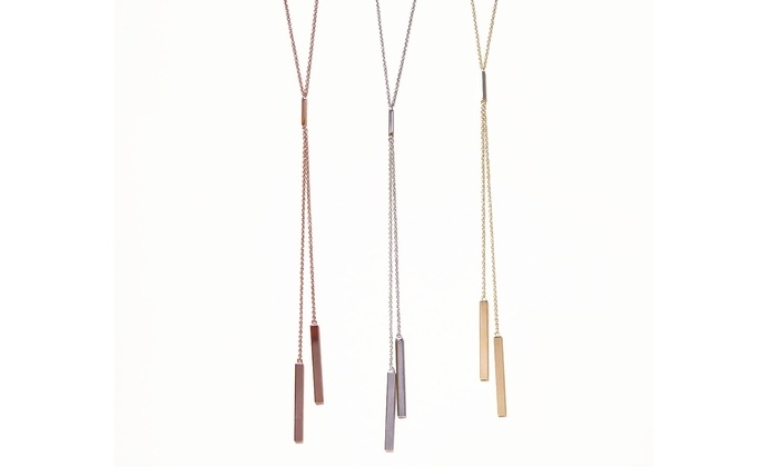 Triple bar y necklace groupon goods for Triple j fine jewelry