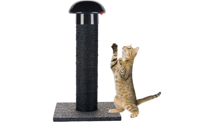 cat scratching post with builtin laser toy cat scratching post with built