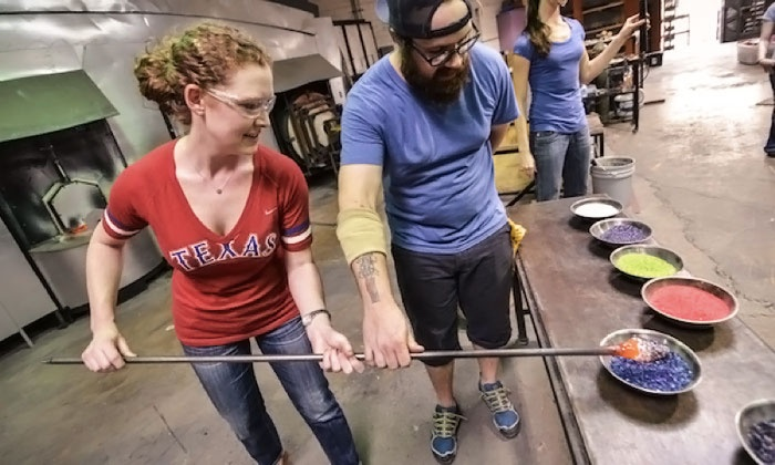Mother's Day Glassblowing Class - Carlyn Ray Designs: Sculpt a Glass Flower for Mother's Day in a Glassblowing Workshop