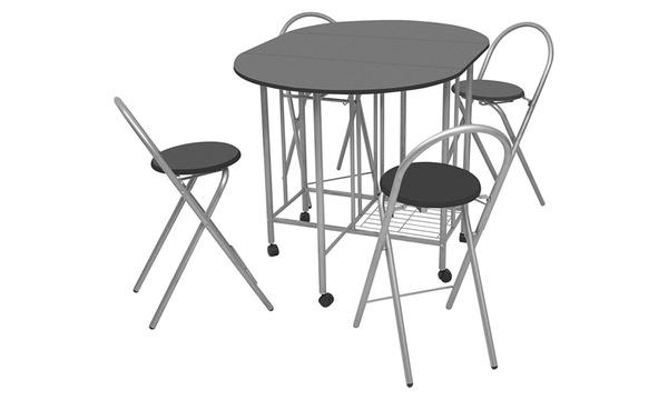 Conjunto de muebles de comedor plegables de 5 piezas