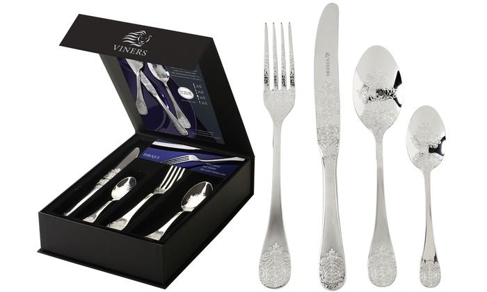 viners 16 piece cutlery set groupon goods. Black Bedroom Furniture Sets. Home Design Ideas