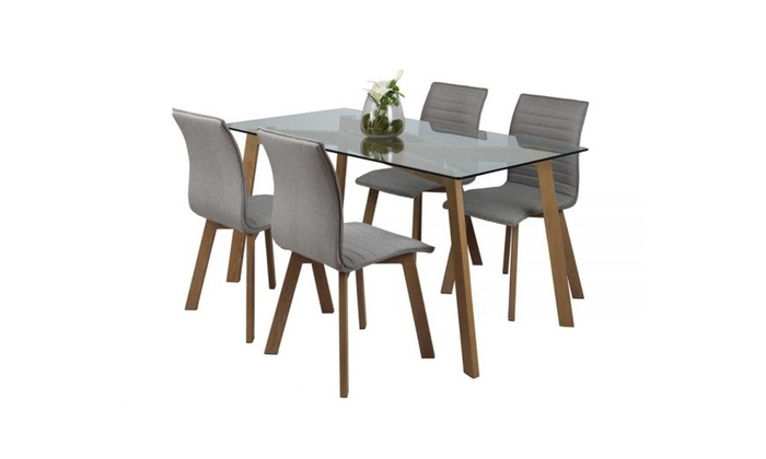 ensemble table et chaises groupon shopping. Black Bedroom Furniture Sets. Home Design Ideas