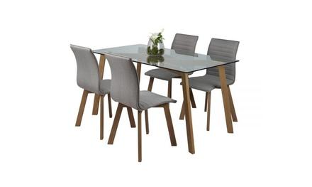 ensemble table et chaises groupon shopping. Black Bedroom Furniture Sets. Home Design Ideas