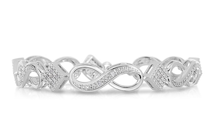 1/10 CTTW Genuine Diamond Infinity Bracelet