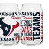 Set of 2 16 Oz. NFL Glass Cans (Select Teams)