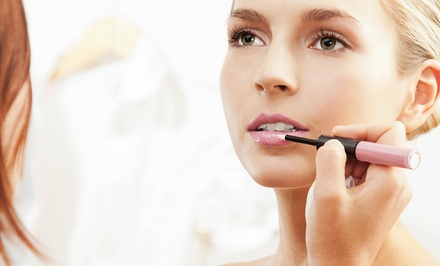 Makeup Application for One or Private Makeup Lesson for Two at Therapeutic Skin Treatment (Up to 55% Off)