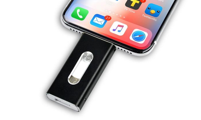 8GB, 16GB, 32GB or 64GB iFlash Storage Drive for iPhone or iPad
