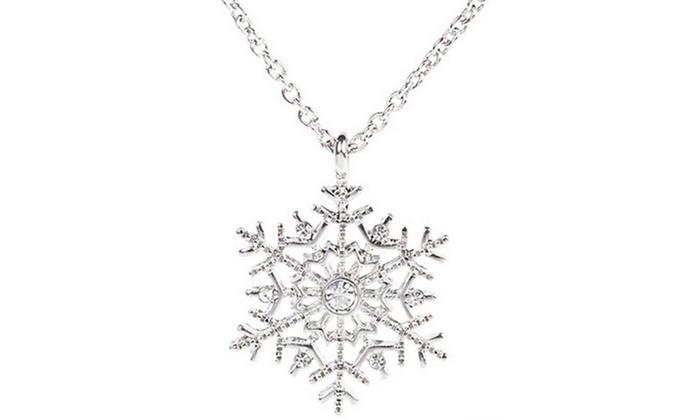 design di qualità 5814f 41a48 Collana con ciondolo fiocco di neve con cristalli Swarovski® a 7,99 € (86%  di sconto)