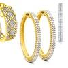 1.00 CTTW Genuine Diamond Hoop Earrings