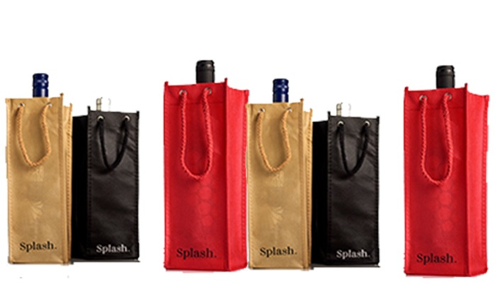Splash Wines : Six or Twelve Packs of Wine Carrying Gift Bags from Splash Wines (Up to 76% Off). Two Options Available.