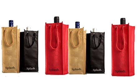 Six or Twelve Packs of Wine Carrying Gift Bags from Splash Wines (Up to 76% Off). Two Options Available.