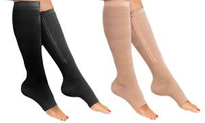Compression Knee-High Zipper Socks at Compression Knee-High Zipper Socks, plus 6.0% Cash Back from Ebates.