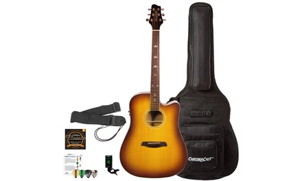 Sawtooth Acoustic-Electric Guitar with ChromaCast Accessories