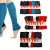 Women's Cable-Knit Leg Warmers (6 Pairs)