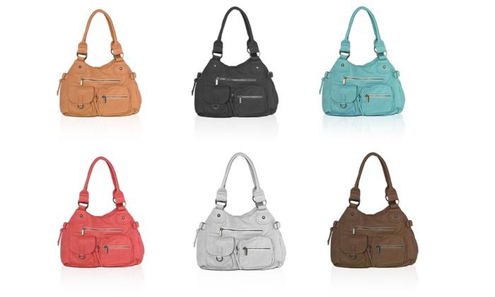AFONiE Multi-Pocket Shoulder Bag