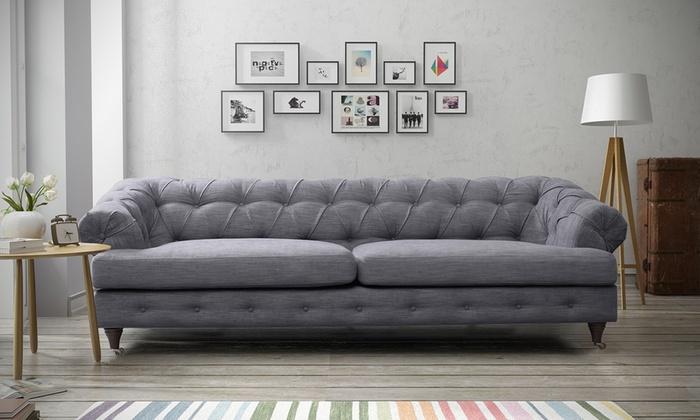 hampton sofa sets groupon goods. Black Bedroom Furniture Sets. Home Design Ideas