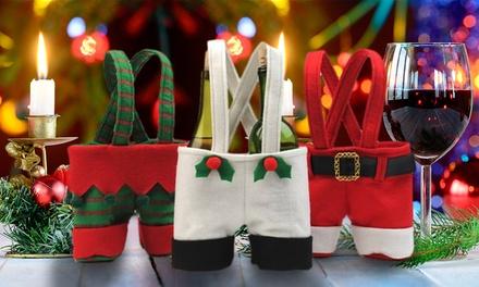 Santa, Snowman or Elf Mini Wine Bottle Gift Bags