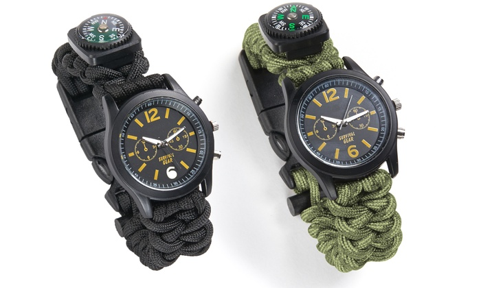 NW Survival 6-in-1 Paracord Survival Safety Watch