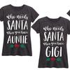 Ladies' Who Needs Santa Pajama T-shirt