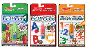 Melissa & Doug: Water Wow Reusable Coloring Book and Pen Sets