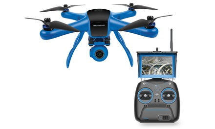 Raptor Quadcopter Drone with Gimbal-Mounted Full HD Camera and Live-View LCD Screen