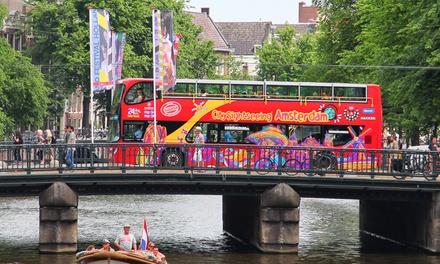Découvrez la ville Amsterdam de manière unique en bus et/ou bateau Hop on Hop off de City Sightseeing Amsterdam