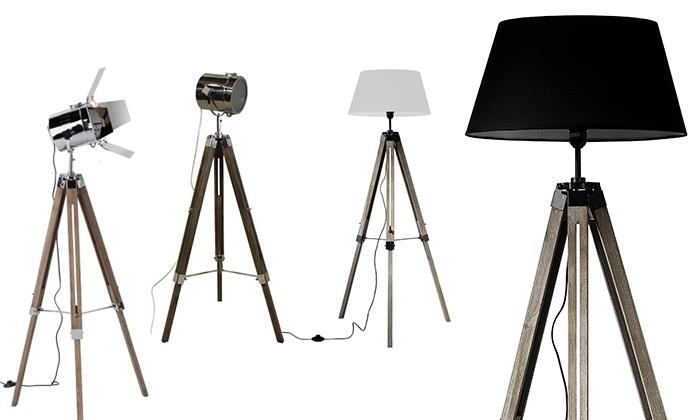 dreibeinige stehlampe groupon goods. Black Bedroom Furniture Sets. Home Design Ideas