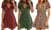 1x oder 2x Damen-Kleid mit Leopard-Print