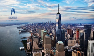 Up to 33% Off Admission to One World Observatory  at One World Observatory, plus 9.0% Cash Back from Ebates.