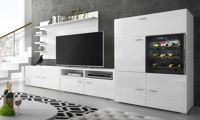 armoire murale avec cave vin groupon. Black Bedroom Furniture Sets. Home Design Ideas