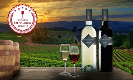 $99 Bottles of FiveStar Winery Rosemount Road Shiraz or Chardonnay 2015 Wine Don't Pay $199