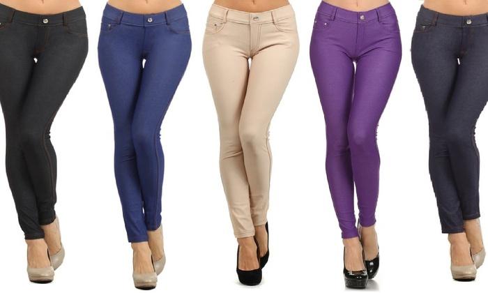 1d09dc553599b5 Women's Five-Pocket Slimming Jeggings (3-Pack)