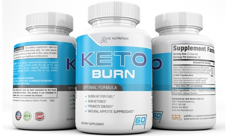 Keto Burn Supplements from Chris Pietsch at Avid Nutrition (Up to 40% Off). Six Options Available.