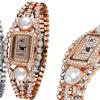 Adee Kaye Women's Pearl and Crystal Watch